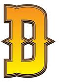 Western alphabet letter - D — Стоковое фото