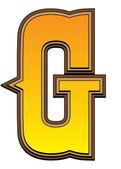 Western alphabet letter - G — Стоковое фото