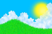 трава в солнечный день — Стоковое фото
