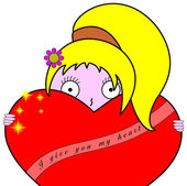 I give you my heart - female decorated version — Stock Photo
