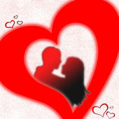 Lovers heart — Stock Photo