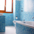 Blue bathroom — Stock Photo #13316664