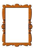 Decorated portrait rectangular frame — Stock Photo