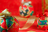 Christmas decorations - Colour balls — Stock Photo