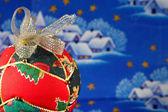 Christmas ball closeup — Stock Photo
