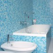 Blue bathroom — Stock Photo #17856173