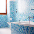 Blue bathroom — Stock Photo #17856177