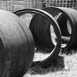 Cement pipes - Stock Photo