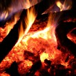 Fire burning in night — Stock Photo #17857597