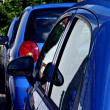 Blue rent cars — Stock Photo #17859865