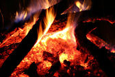 Fire burning in the night — Stock Photo