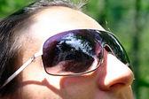 Chica con gafas de sol — Foto de Stock