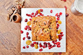 Christmas cake from above — Stock Photo