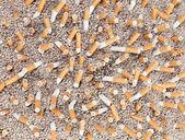 Caos de cigarrillos desde arriba — Foto de Stock