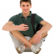 Teenage student sitting — Foto de stock #12812537