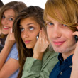 Teenagers with smartphone - Stockfoto