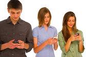 Teenageři s smartphone — Stock fotografie