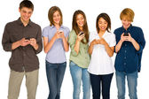 Teenagers with smartphone — Stock Photo