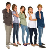 Teenagers with smartphone — Foto de Stock