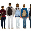Teenage students with backpack — Stock Photo #12823786