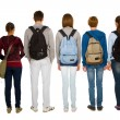 Teenage students with backpack — Stock Photo