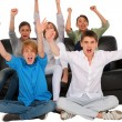 Teenagers rejoicing — Stock Photo
