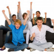 Stock Photo: Teenagers rejoicing