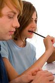 Подростков, изучение вместе — Стоковое фото