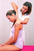 évaluation technique ostéopathique pour colonne cervicale — Photo