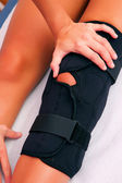 Physiotherapy knee brace — Stock Photo