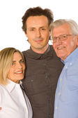 Couple with father in law — Stock Photo