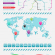 infographics elements — Stock Vector