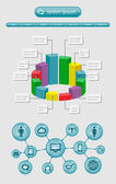 Infographics and web elements — Stock Vector