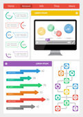 Ui, infographics and web elements including flat design — Stock Vector