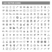 182 icons and pictograms set — Vector de stock