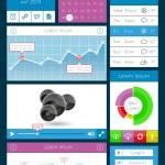 elementi dell'interfaccia utente, infografica e web — Vettoriale Stock