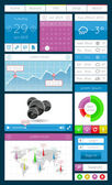 Ui, infographics and web elements — Stock Vector