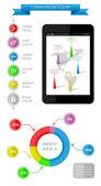 Ui, infographics and web elements — Vector de stock