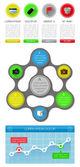 Ui、インフォ グラフィックおよび web の要素 — ストックベクタ