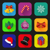Holiday icons set. Flat design — Stock Vector
