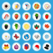 Flat icons and pictograms set — Stock Vector