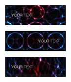 Set of abstract modern futuristic banners — Vetorial Stock