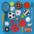 Flat icons bundle. Sport and recreation concept — Stock Vector