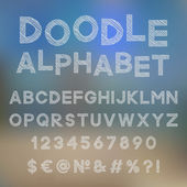 Decorative doodle alphabet — Stock Vector
