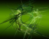 Abstract Fractal Art Green Circular Threads Object — Stock Photo