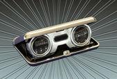 Silver Vintage Opera Binoculars — Stock Photo