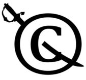 Black Copyright Infringement Notice Icon — Stock Photo