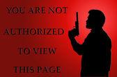 Inte har behörighet för att visa sidan på röd — Stockfoto