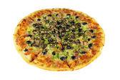 Quattro Stragioni Pizza Complete Isolated — Stock Photo