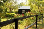 Wooden Dollhouse in Garden — Stock Photo